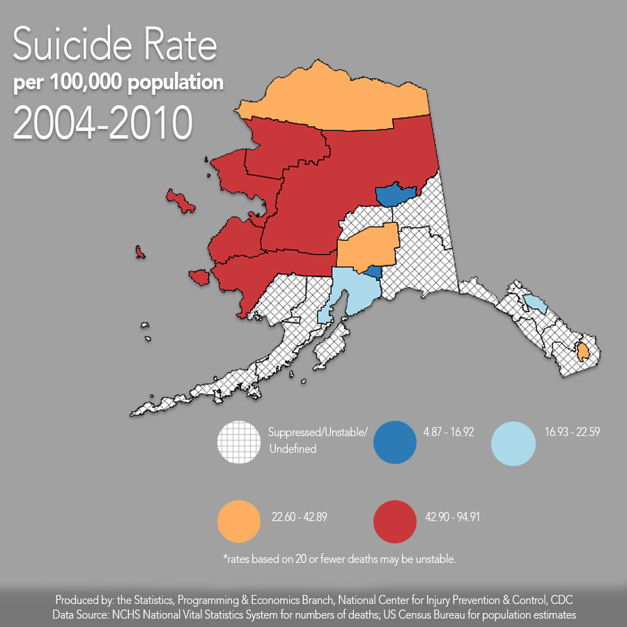 Alaska Has The Third Highest Suicide Rate In The United States Right Under Montana And Wyoming According To A 2015 Survey Released By The Centers For