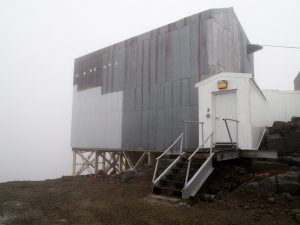 The Romanzof radar site built in the early 50s used to have a working tram for bringing personnel up and down the steep hills of an inactive volcano (Photo by Zachariah Hughes, Alaska Public Media - Anchorage)
