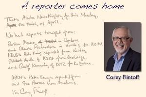 Newsman Corey Flintoff comes home for a visit