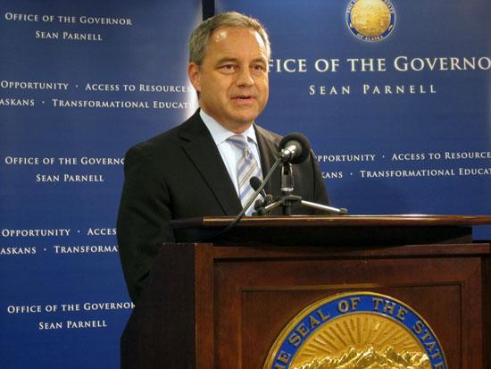 Governor Sean Parnell. Photo by Daysha Eaton, KSKA - Anchorage