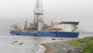 Coast Guard, Shell Inspect Rig for Signs of Grounding