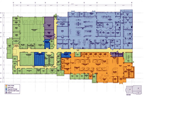 Blood bank of alaska begins work on new site alaska for Alaska floor plans