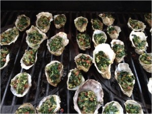 Yakutat oysters with spinach made by Chef Rob Kineen.