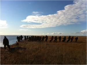 700 person Alaska village near the Bering Sea.