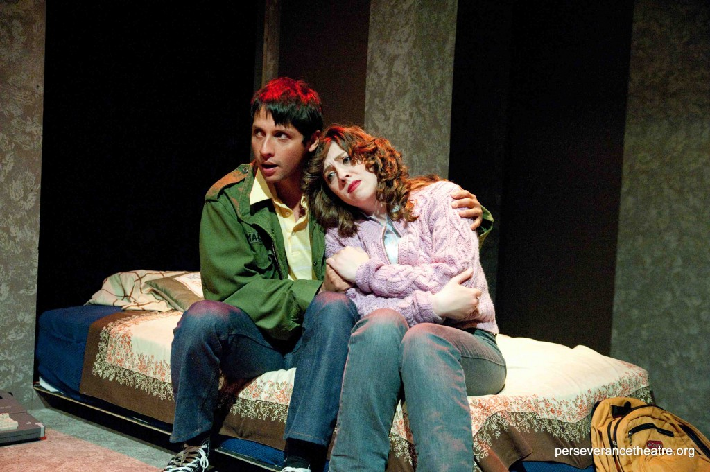 Enrique Bravo and Rachel Landon in Bigfoot and Other Lost Souls