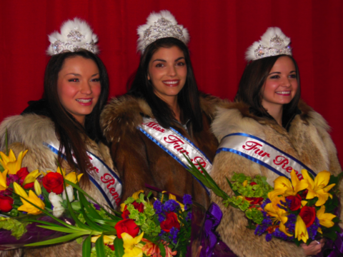 Princesses Avery Kristiansen, Shayla Silva and Rondy Queen Sierra Rain Begich Slade.