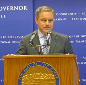 Governor Sean Parnell. Photo by Alexandra Gutierrez.