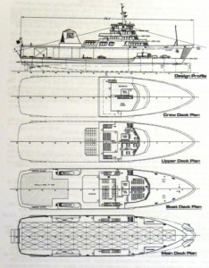 Preliminary shuttle ferry deck plans are part of a design concept document released by transportation officials. AMHS image.