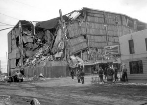 J. C. Penney's after most of the rubble has been cleared from the streets. Photo by G. Plafker, 1964. Figure 5, U.S. Geological Survey.