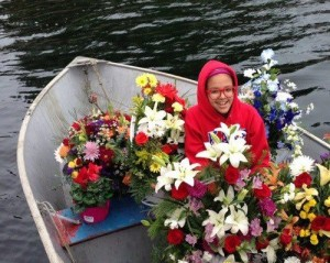Mackenzie Howard's family provided this photo of her taken hours before her death Tuesday. She had attended a community memorial service for Kake elder Clarence Jackson and helped gather flowers in this skiff.