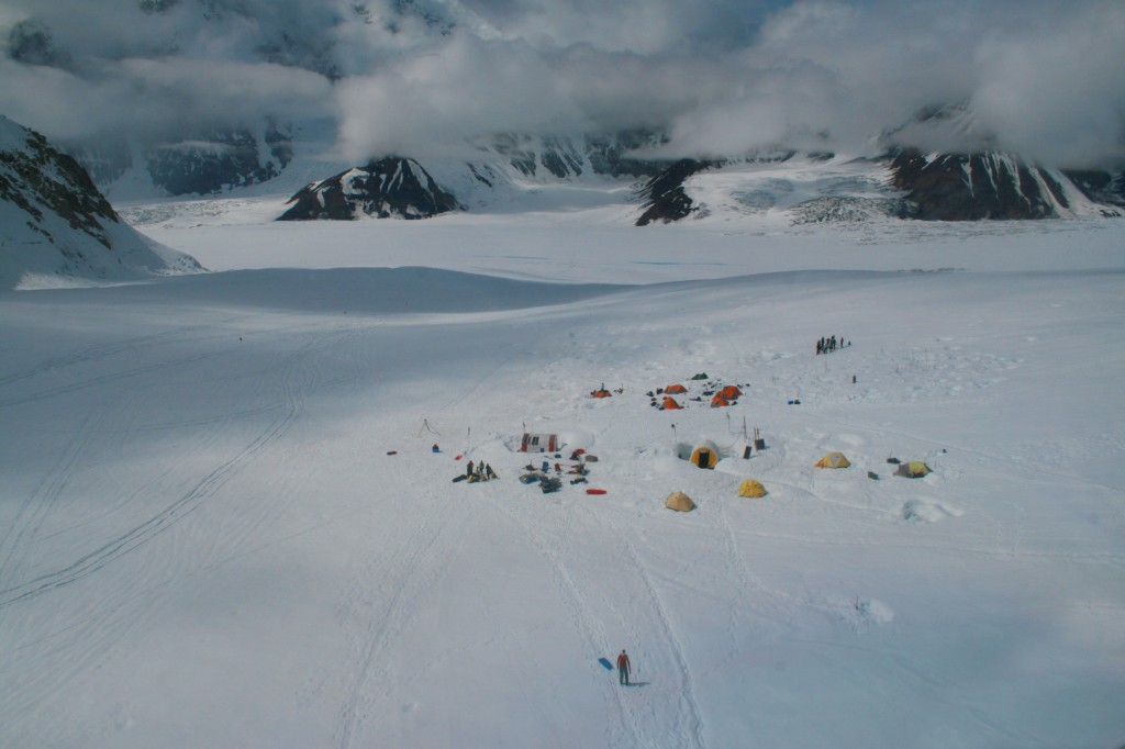 Kahiltna Basecamp and landind strip. NPS Photo / Karina Yeznaian