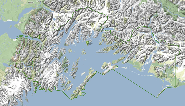 Map of Chugach National Forest