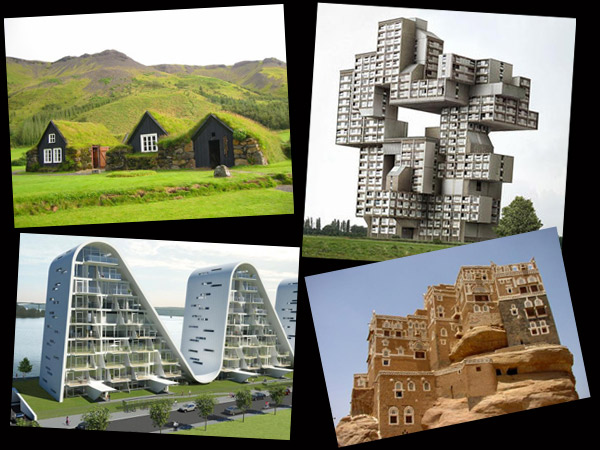 Quirky samples from 'Strange houses around the world' website.