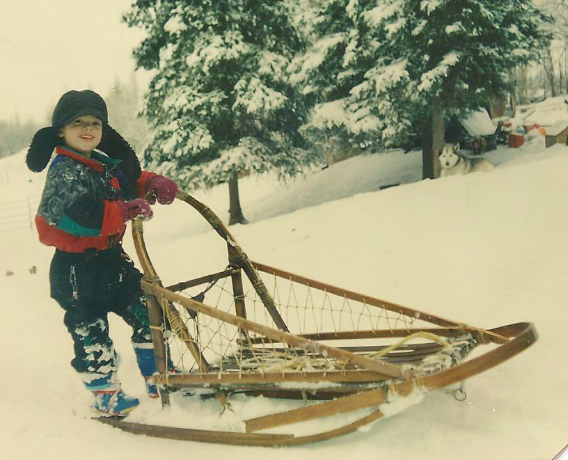 Mushing since age 4, Dalton now teaches Mushing 101 for kids at The Learning Farm in Achorage. Photo courtesy Deb Baines.