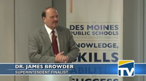 Jim Browder served as Superintendent of the Anchorage School District for less than one year. Screenshot from DMPStv.