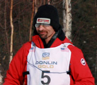 Lance Mackey leaves Willow at the beginning of the 2013 Iditarod. Photo by Rhonda Edge.