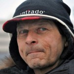 Martin Buser at the 2013 Iditarod ceremonial start in Anchorage. Photo by Patrick Yack, APRN - Anchorage.