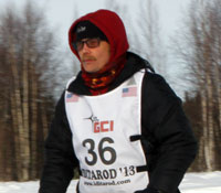 Mitch Seavey leaves Willow at the start of the 2013 Iditarod. Photo by Josh Edge, APRN - Anchorage.