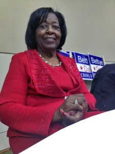 Former state legislator Bettye Davis is now a member of the Anchorage School Board, along with Eric Croft. Davis served on the School Board during the 80s and 90s. Photo by Daysha Eaton, KSKA - Anchorage.