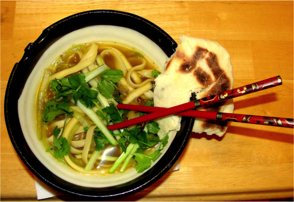 Naan with Pho