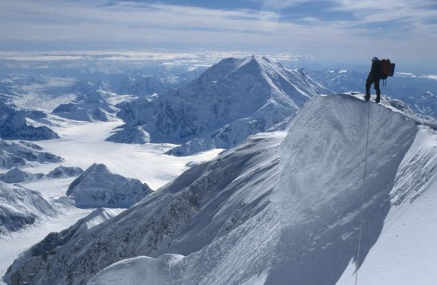 Summit Ridge of Denali. Photo by Brian Okonek.