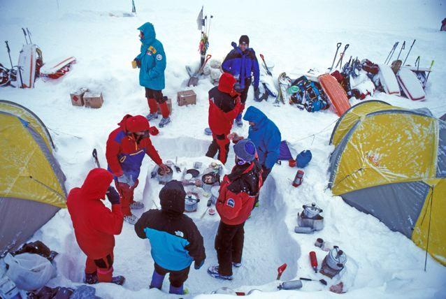 Denali base camp kitchen. Photo by Brian Okonek.