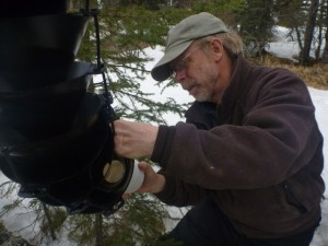"Paul Liedberg, recently retired from the USFWS, finds time for ""citizen scientist"" work around Dillingham. KDLG photo"