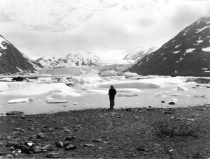 Photo compliments of USGS. Portage Lake and Glacier, 1956.