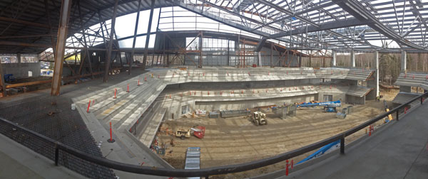The beginnings of the inside of the arena. Photo by Josh Edge, APRN - Anchorage.