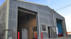The warehouse that will house Anchorage Community Works in the Ship Creek area.