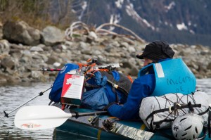 A typical pack rafting set up.