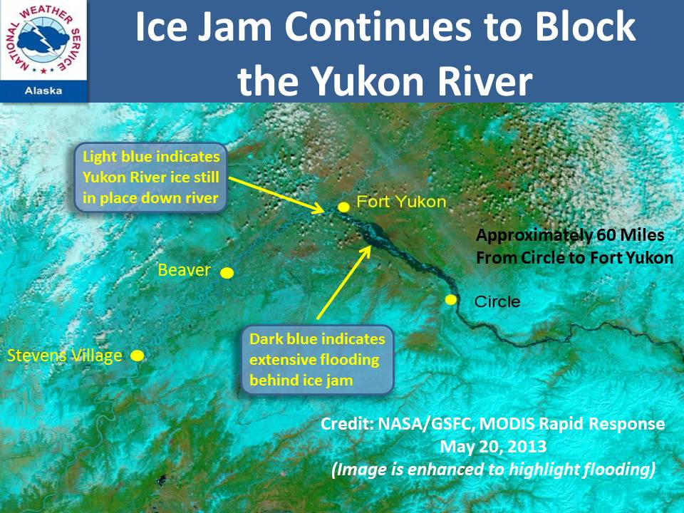 Fort Yukon Alaska Map.Ice Jam Above Fort Yukon Could Mean Disaster Alaska Public Media