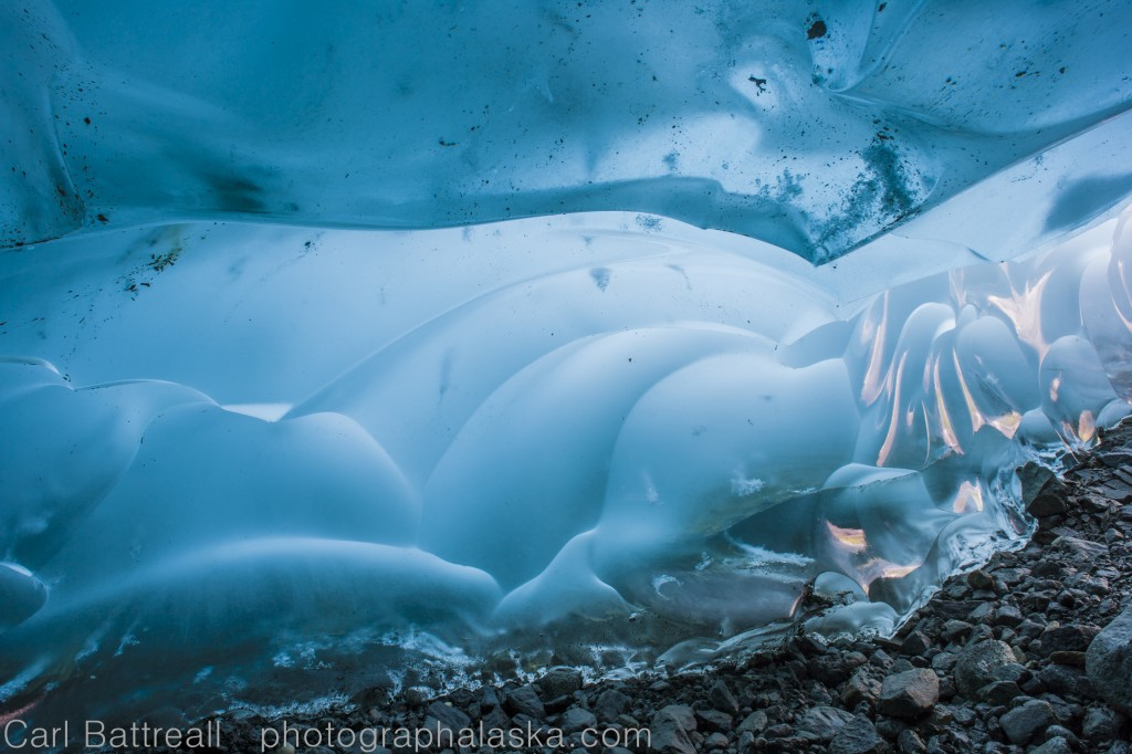 Light from within, Mendenhal Glacier, Tongass National Forest, Alaska.
