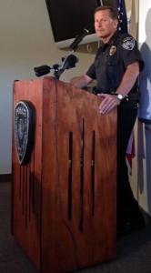 Anchorage Police Department Chief Mark Mew. Photo by Daysha Eaton, KSKA - Anchorage.