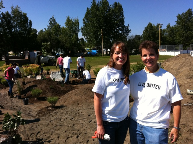 Be The Change 907 gives volunteers an easy way to connect with causes they care about. At Day of Action last summer, Jenna Hooley and Lisa King, both of the Nerland Agency, worked with kids at  the Woodland Park Boys & Girls Clubhouse to plant a rain garden garden in their play space.