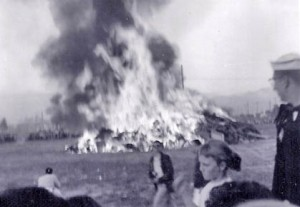 Statehood Bonfire, Anchorage, June 30, 1958.   Jana Ariane Nelson