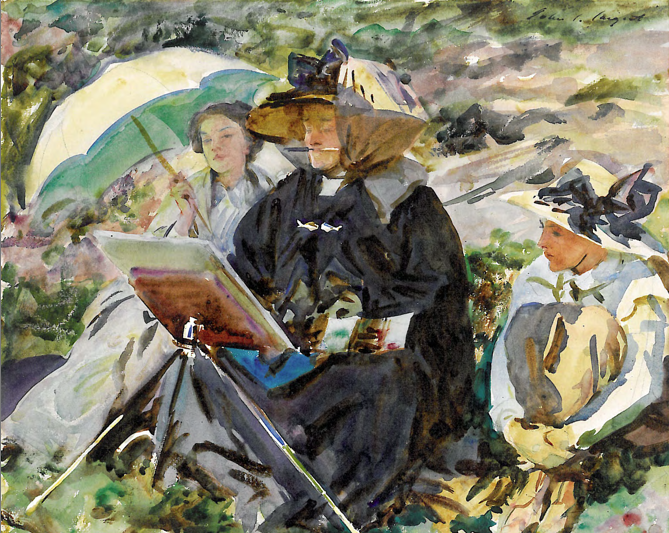 John Singer Sargent, Simplon Pass - The Lesson (1911)