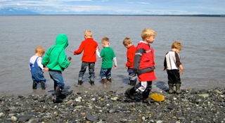 The play group at Point Woronzof in Anchorage.