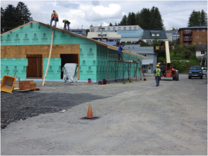 Construction of the Cultural Center in Downtown Wrangell, June 2013