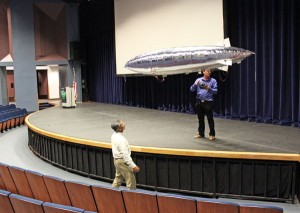 model airship does a test flight