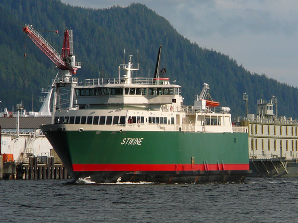 The IFA ferry Stikine sails Ketchikan's Tongass Narrows.