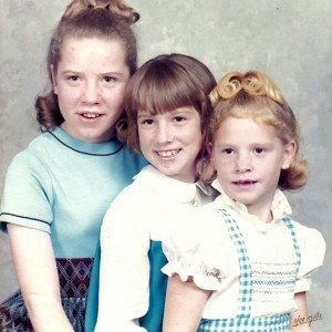 Kimberley and her two sisters, Robin and Teresa. Photo courtesy of Kimberley Bruesch
