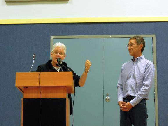 EPA Administrator, Gina McCarthy (left) and BBNA President & CEO, Ralph Anderson (right). Photo courtesy KDLG - Dillingham,