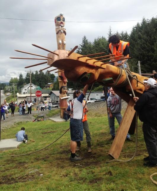 Klawock-totem-raising-e1376695623903