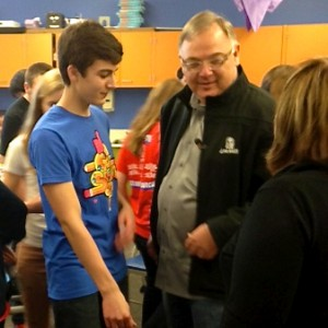 Taco Bell CEO, Greg Creed, speaks with BRHS students. Photo by Kristin Hall