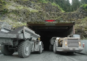 The portal at Greens Creek Mine. Although the mine itself is underground, the surface footprint of the mill, camp, and roads is roughly 350 acres. (Hecla photo)