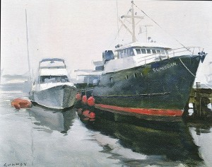 Harbor Fog (Oil-on-Board, 1995).