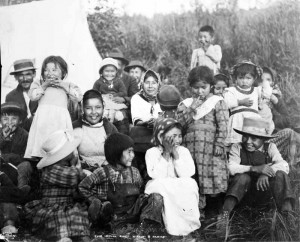 Chief Nikaly and his family, Knik, Alaska, 1918. Image credit: H. G. Kaiser, University of Alaska Fairbanks Archives. Courtesy of the Anchorage Museum.