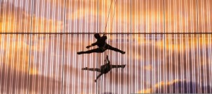 Aerialists to perform Saturday night. By Nicholas Bradford