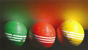 Observing reflected light with croquet balls.